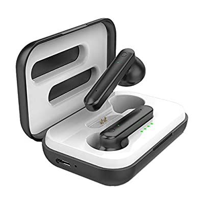 Wireless Earbuds Bluetooth 5.0 Headphones Touch Control Stereo Headsets IPX7 Waterproof in-Ear Earphones,Earpods with Built-in Mic with Charging Case for iPhone Samsung Android from Yixin