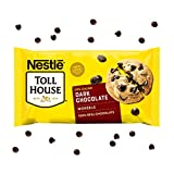One 20 oz bag of Nestle Toll House Dark Chocolate Chips Dark chocolate baking chips are perfect to add to chocolate chip cookies, brownies or pancakes Dark chocolate baking chips made with 100% real chocolate and 53% cacao Enjoy our dark chocolate ch...
