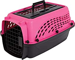 Solid and durable pet carrier with both top and side doors for easy access