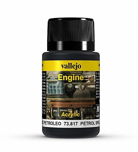 """Vallejo (40ml""""Petrol Verschütteten Flüssigkeiten"""" Verwitterung Effekt Flasche"""