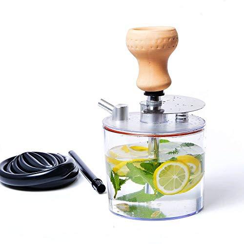 QWERDF Mini Cup Hookah Set, Acrylic Water Bottle Bubble Hookah One Hose Big Smoke with Hookah Bowl for Better Shisha Hookah Narguile Smoking
