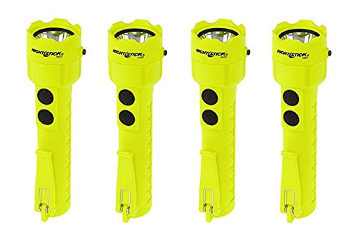 (4 Pack) Nightstick XPP-5422G 3 AA Intrinsically Safe Permissible Dual-Light Flashlight, Green