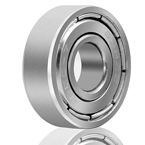 KEILEOHO 120 PCS 608 ZZ Miniature Ball Bearings, Double Shielded Skateboard Bearings, 8x22x7 High-Speed Roller Bearings for Scooters, Longboards, Roller Skates, Mini Cruisers, Smooth and Durable