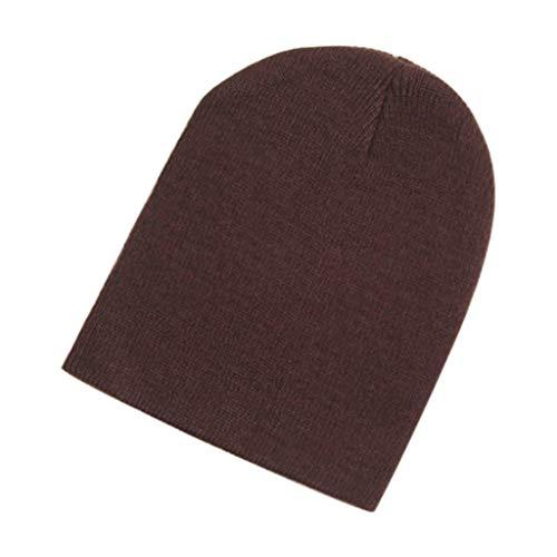 UJUNAOR Baby Beanie Hat Boy Girls Soft Hat Children Winter Warm Kids Knitted Cap Brown