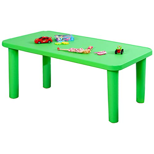 Costzon Kids Plastic Table, Portable Plastic Learn and Play Table for School...