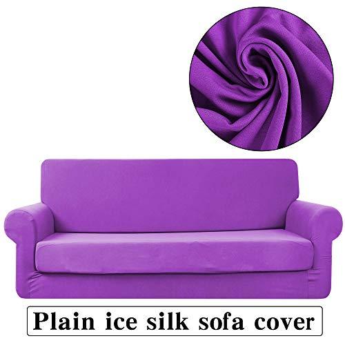 Stoelovertrek, rekbaar, elastische bankovertrek, antislip, van ijszijde, eenkleurig, beschermhoes tegen stof van meubels, bankovertrek, gemakkelijk te reinigen.