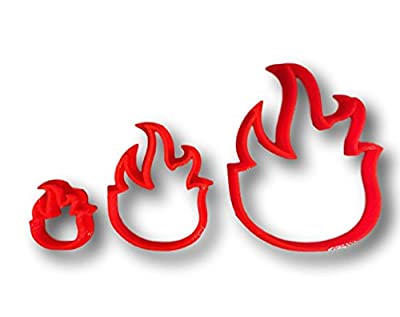 Fire Flame Cookie Cutter (All sizes)