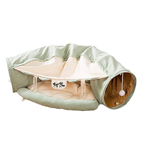Katzen-Tunnel I Katzen Spielzeug I Katzenbett und Hängematte I Vielseitiges Katzenspielzeug I Robust (Style 2)