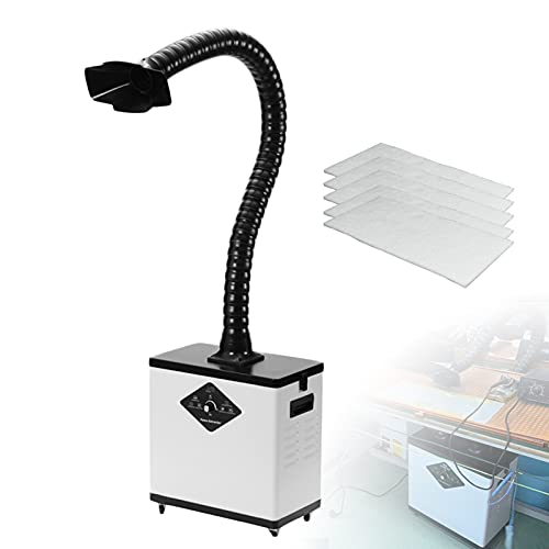 Extractor de Humos de Soldadura, Filtro de Humos con Tubo de Humo Movible para Fumar para Trabajo de Taller DIY e Planchar