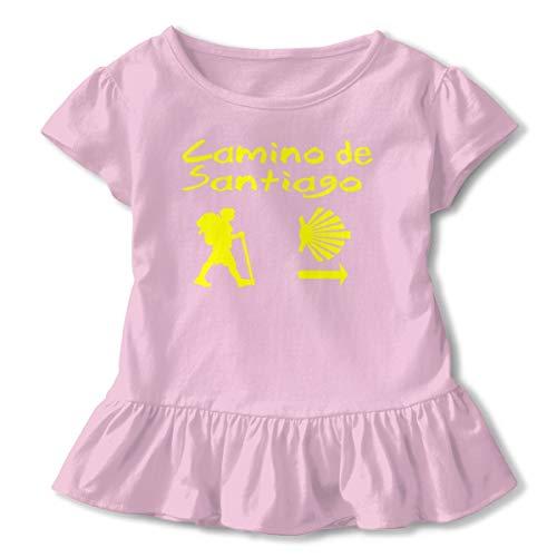 Abigails Home Camino De Santiago Compostela Boy's Girls Niños Camiseta de Manga Corta Lotus Leaf Tees