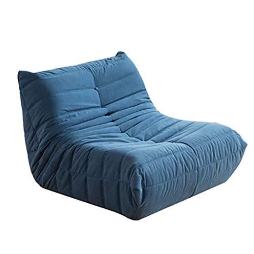 Xin Hai Yuan Gran Silla De Caracol Individual Balcón Reclinable Dormitorio Togo Caterpillar Sofá Tumbona Sofá Perezoso para Perros,Azul