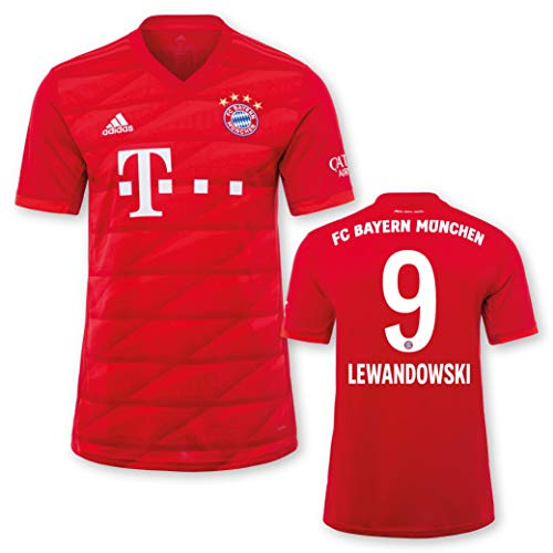 adidas FC Bayern München Heimtrikot Kinder Saison 2019/20, Größe:140, Spielername:9 Lewandowski