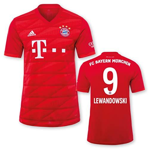 adidas FC Bayern München Heimtrikot Kinder Saison 2019/20, Größe:164, Spielername:9 Lewandowski