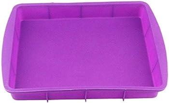 Silicone Rectangular Cake Pans Mold Bakeware Bread Baking Pan Non Stick Easy Demoulding Purple European-Grade Silicone