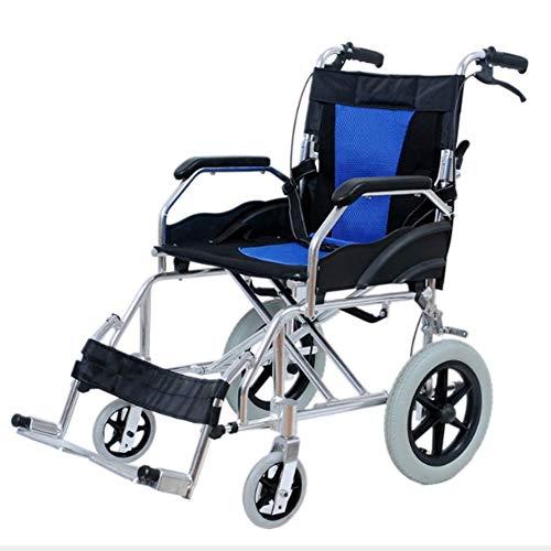 Ouderen Rolstoel Rolstoel Vouwen Lichtgewicht Ouderen Gehandicapten Gratis Opblaasbaar, Handicapped Handmatige Draagbare Vliegtuigen Trolley, Y-L