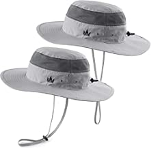 The Friendly Swede Sun Hats 2-Pack – Safari and Boonie Hat for Summer (Light Grey)