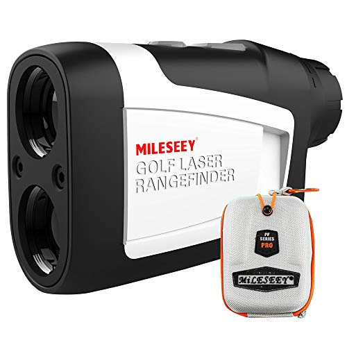 MiLESEEY Golf Rangefinder, High-Precision Laser Range Finder with Slope On/Off, Fast Flagpole Lock with Vibration, Continuous Scan, 6X Magnification, Distance/Angle/Speed...