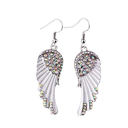 Colgante de aleación de ángel de la guarda para mujer, hipoalergénico, pendientes colgantes para motociclista, accesorios para collar