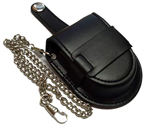 Funda negra para reloj de bolsillo