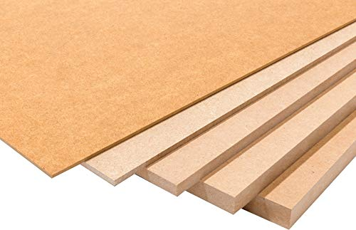Wood addicts Pack de Tableros de Madera DM (MDF) de 2MM de Grosor.Disponibles A0, A1, A2, A3, A4, A5, Soporte para Manualidades, Decoración, Láser, CNC, Pirograbado, Pintura (A4 (5ud, 297x210mm))