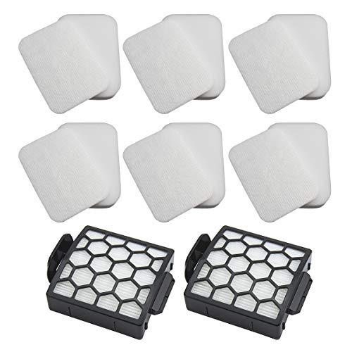 Funmit Vacuum Filter Replacement for Shark Navigator Zero-M Self-Cleaning Brushroll Pet Pro ZU60 ZU62 ZU62C and Navigator Pet Plus NV150 NV251 NV255 Upright Vacuum, Parts 1238FT60 & 1239FT60 (Total 14 Pack)