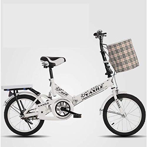 WEHOLY Fahrradreise Neues faltbares Stoßdämpferfahrrad 20 Zoll 6-18 Jahre alte männliche und weibliche Studenten Erwachsenenfahrrad
