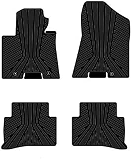Kaungka Heavy Rubber Car Front Floor Mats Compatible for 2016 2017 2018 Kia Sportage-All Weather and Season Protection Car Carpet