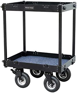 """PROAIM Victor 32"""" x 24"""" Camera Equipment Cart Trolley   Adjustable Folding Aluminum Truck   DIT/Sound/Lighting/Dolly Storage Cart, Payload 300kg/661lb   for Photographers & Videomakers (CT-VCTR-32)"""
