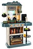 ISO TRADE Spielküche Kinderküche Zubehör Funktion Wasserhahn Kaltdampf 43 Elemente 9567, Farbe:Blau