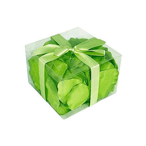 HOBI Lot de 100 Pétales de Rose Couleur Vert Menthe, en Tissu, 5,5 x 3,5 cm
