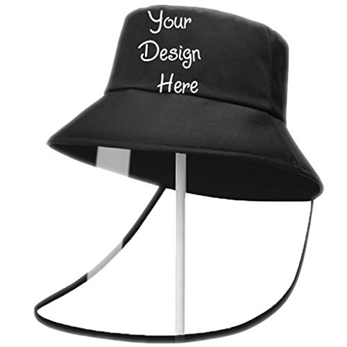 Custom Personalized Protective Bucket Hat for The Most Lovers, Design Your Own Text/Logo/Image Baseball Cap Fishing Hat Cap Fisherman Hat