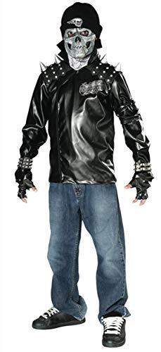 Rubies Costume Dead City Choppers Child's Metal Skull Biker Rider Costume, Medium