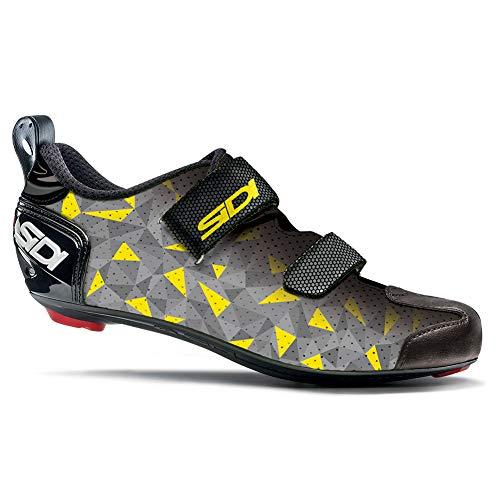 Sidi - Zapatillas de Ciclismo T-5 Air, para Hombre, Color Gris, Amarillo y Negro, Talla 39