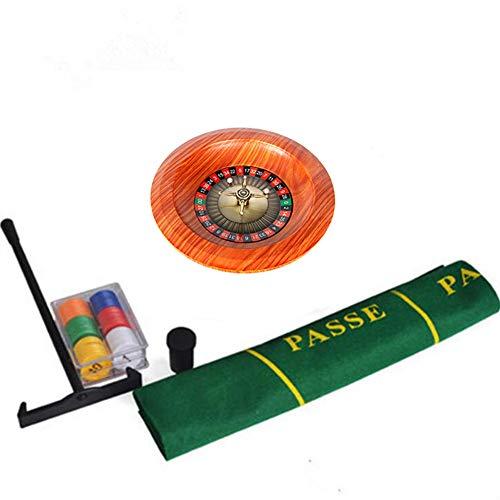 Dongbin 12 ZollRoulette-Tisch Roulette-Rad Set Holzplattenspieler Roulette-Rad Set Spaß Freizeit Unterhaltung Tischspiele Erwachsene Kinder Zeichnen Drehscheibe