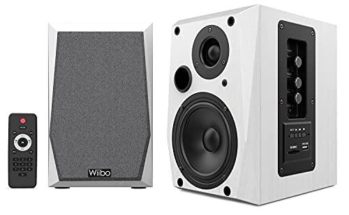 Wiibo Neo 50 - Altavoces Bluetooth Portátiles - Altavoces Inteligentes HiFi - Altavoces Estantería - Potencia 50W - 145 mm x 200 mm x 230 mm - Blanco - incluye Mando a Distancia