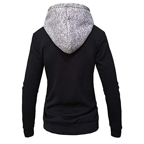 Z&Y Glaa Men's Hoodie Sweatshirt Sweater Pullover Hooded Fleece Sweatshirt with Kangaroo Pockets Solid Color Hoody Men's Hoodie Hooded Sweatshirt Jumper with Hood with Fleece Lining Dark Gray