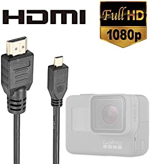 Luxebell High Speed HDMI HD Video Cable for Gopro Hero 7 6 5 4 Fusion Black Silver 3+ 3 and Sjcam Sj4000 Sj5000-5feet/1.5m...