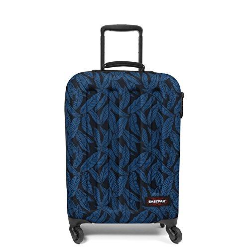 Eastpak Tranzshell S Valigia, 54 cm, 32 L, Blu (Leaves Blue)