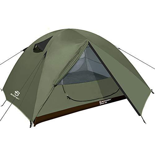 Bessport Zelt 3 Personen Ultraleichte Camping Zelte Wasserdicht 3-4 Saison Kuppelzelt Sofortiges Aufstellen für Trekking, Outdoor, Camping, Rucksack