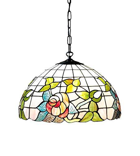 Hanglamp Tiffany met ketting, plafondlamp, afmetingen Ø 50 cm, aantal glazen: 280 3 x E27 max. 60W model PERENZ-T726S