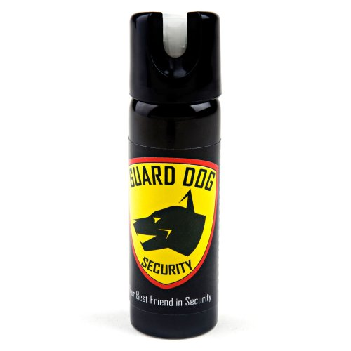 Guard Dog Security Glow in The Dark 3 oz Pepper Spray with UV dye - Police Strength – 25 Bursts