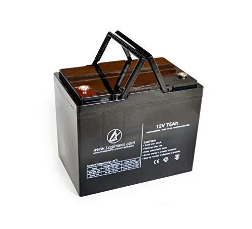 LOGIMEXX WATERPOWER Hochleistung AGM AKKU 75AH, ideal für ZEBCO Rhino Elektrobootsmotoren