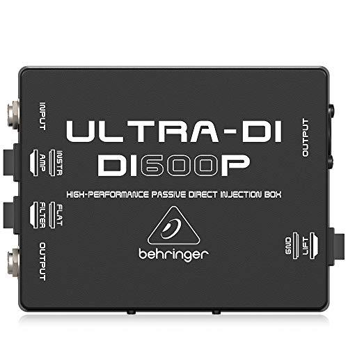 Behringer Ultra-DI DI600P Professional High-Performance Passive DI-Box,Black