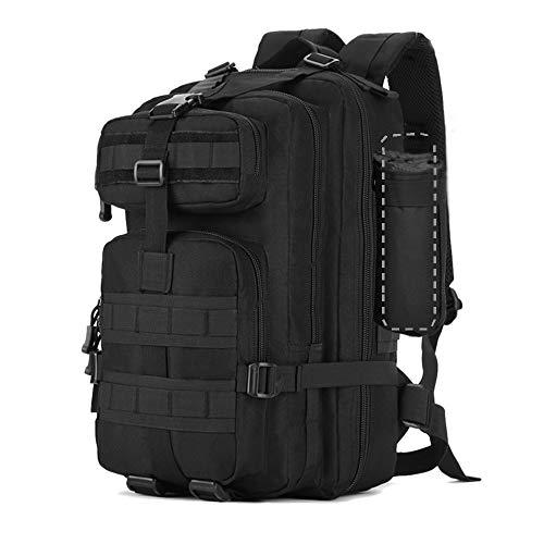 Zology multifunzionale 40l grande capacità borsa zaino escursionismo borsa per campeggio esterno tattico militare zaini per unisex con una tazza, Nero