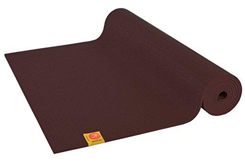 Chin Mudra - Tappetino da yoga confortevole, atossico, 183 x 61 x 0,6 cm, TAPNON-6-CHOCOL, marrone, 6mm