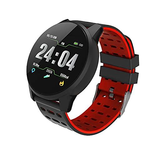 TFTCTS Rastreador de Actividad física, Reloj Inteligente de Fitness a Prueba de Agua IP67, rastreador de Actividad con podómetro, para teléfonos Android y teléfonos iOS, Punto único táctil