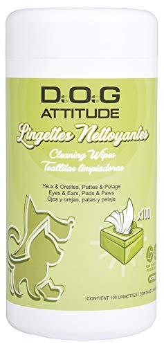 DOG ATTITUDE Lingettes Nettoyantes pour Chien x 100