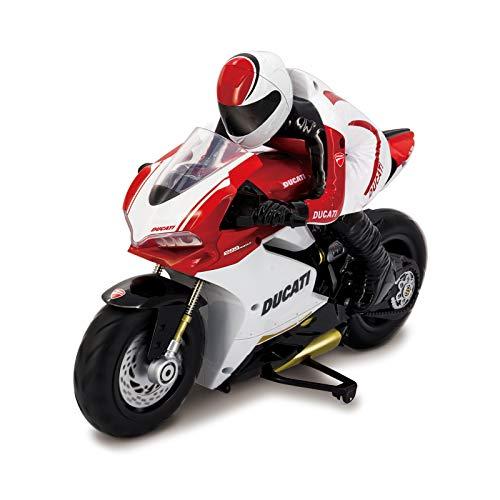Kidz Tech - Ducati Fahrer-Fernbedienung Motorrad - Offizielle Lizenz - Großes Ducati Fahrer RC 2,4 GHz Motorrad - Maßstab 1/6