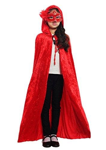 Cabo Halloween Poncho capucha el vestido bruja capilla larga Cosplay del traje...