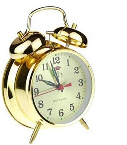 ZYZYY Vintage ouderwetse handmatige uurwerk ultralarge mechanische wekker metalen hoefijzer wekker